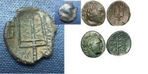 monnaies au trident